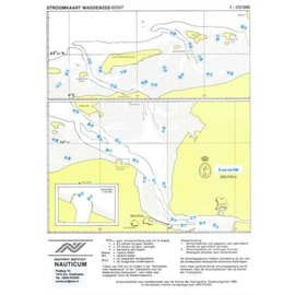 Nauticum Stroomkaart Waddenzee Oost