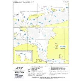 Nauticum Stroomschuifkaart Waddenzee Oost