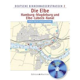 Delius Klasing Vaarkaart Elbe, Hamburg, Magdeburg