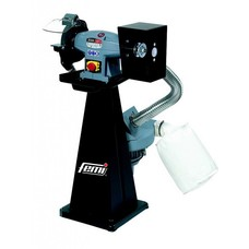 Femi 198 - Combi werkbank polijstmachine/slijpmachine industrial incl. afzuiging - 1100W - 400V