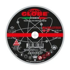 Globe G1721-EVO - 1mm doorslijpschijf - 125x1,0x22,2 ZIP A60SX Staal/RVS