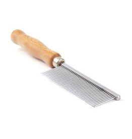 CleanPets (eigen merk) Kam long pins houten handvat