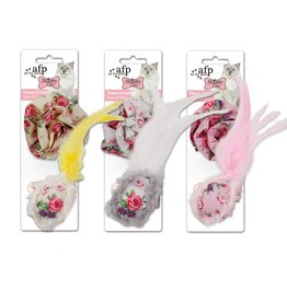 All for paws Flower and Feather Ball (2 pack)