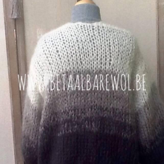 Patroon oversized vest met kleurverloop in Ingenua