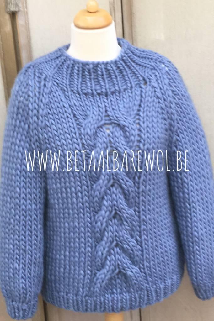 Patroon trui met kabel