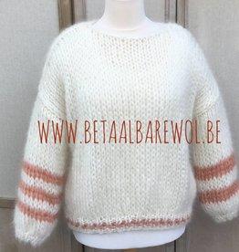 Patroon trui met gestreepte mouwen - Kid-Annell