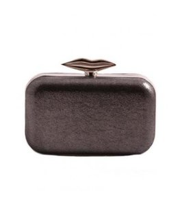 Grey Lips Clutch
