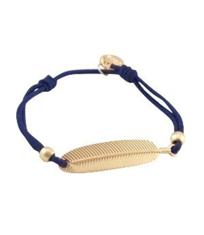 Mix & Match Veer armbandje donker blauw