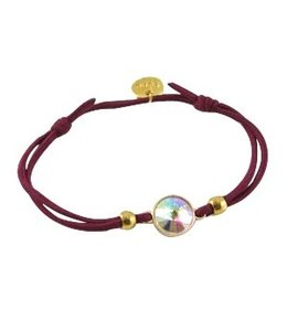 Mix & Match armbandje aubergine red