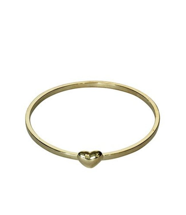 Heart Bangle - Gold