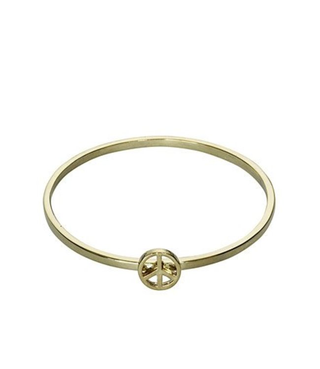 Peace Bangle - Gold