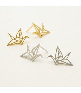 'Origami Bird' Oorbellen