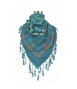 Turquoise sjaal
