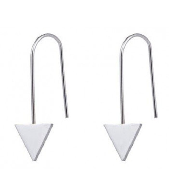 Triangle Earings -Zilver