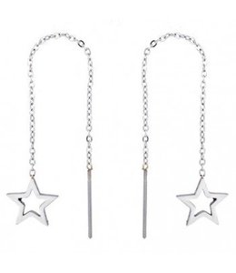 Star Earrings - Zilver