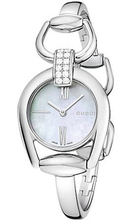 Gucci GUCCI WATCH Mod. HORSEBIT STEEL BANGLE 12 DIAMONDS