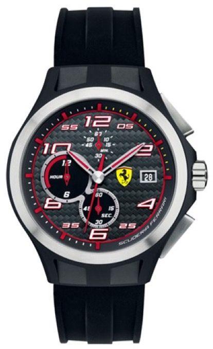Scuderia Ferrari SCUDERIA FERRARI Mod. LAP TIME CHRONO GENT RUBBER STRAP QUARTZ WR 50mt 44mm