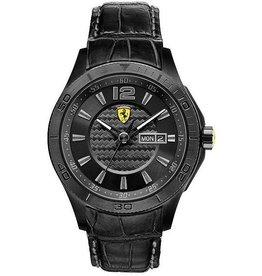 Scuderia Ferrari SCUDERIA FERRARI Mod. SCUDERIA XX GENT MINERAL CRYSTAL LEATHER STRAP QUARTZ WR 50mt 44mm