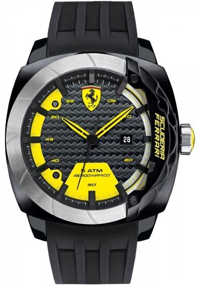 Scuderia Ferrari SCUDERIA FERRARI Mod. AERODINAMICO GENT SILICON STRAP QUARTZ WR 50mt 46mm