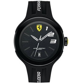 Scuderia Ferrari SCUDERIA FERRARI Mod. FXX GENT QUARTZ DATA SILICONE STRAP PLASTIC CASE WR 50mt. 46mm