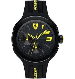 Scuderia Ferrari SCUDERIA FERRARI Mod. FXX GENT QUARTZ CHRONO DAY & DATE SILICONE STRAP PLASTIC CASE WR 50mt. 46mm