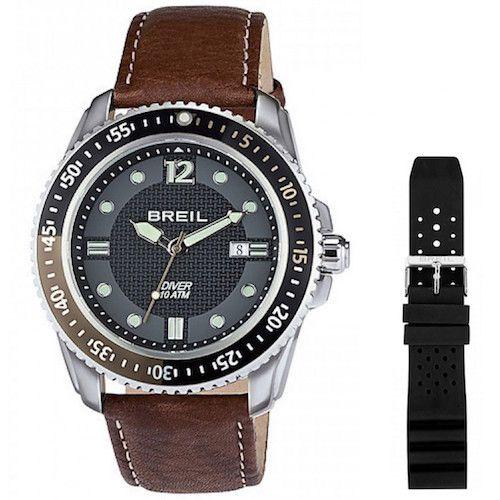 Breil BREIL Mod. OCEANO Quartz Gent Data SS Case Leather Strap + Silicone strap 47mm WR 10ATM