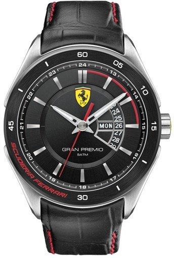 Scuderia Ferrari SCUDERIA FERRARI Mod. GRAN PREMIO GENT LEATHER STRAP 45mm 5atm