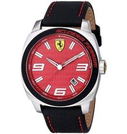 Scuderia Ferrari SCUDERIA FERRARI Mod. AEREO GENT LEATHER STRAP 46mm 5atm