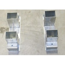 Houtrekverbinding | 70x70 | 2 stuks