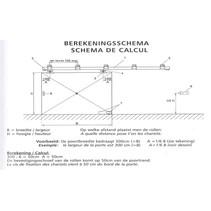 Schuifpoort compleet | 136,5cm breed