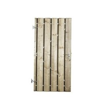 Poort Vuren | frame + RVS cilinderslot | celfix
