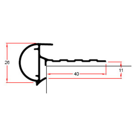 Mini kraaltrim 26mm | 2.00m