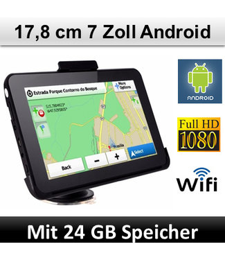 Elebest Elebest Navigationsgerät Android, 7 Zoll Display, WIFI, Radarwarner