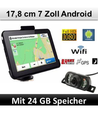 Elebest Elebest Navigationsgerät Android 7 Zoll mit Funk Rückfahrkamera, WIFI, 24GB Speicher