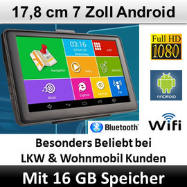 Elebest Elebest Navigationsgerät Android 7 Zoll, Bluetooth, WIFI, Radarwarner
