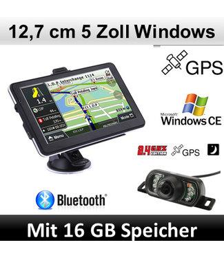 Elebest Elebest Navigationsgerät Windows CE 5 Zoll, Funk Rückfahrkamera, Bluetooth
