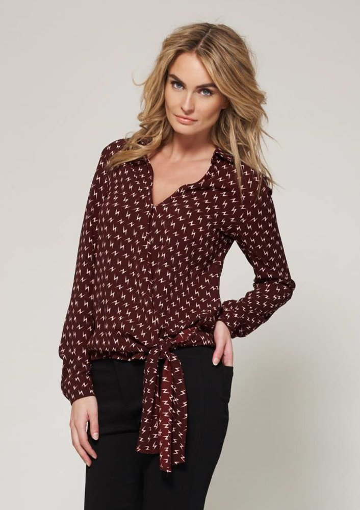 apr - blouse Louise Red