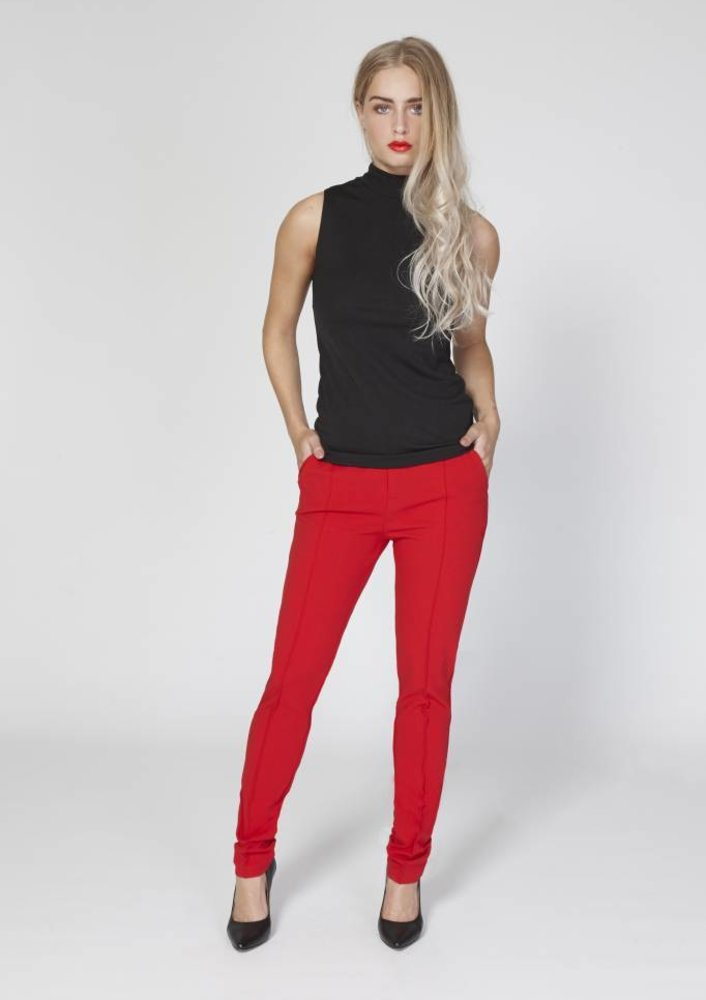 trouser Mabel Red