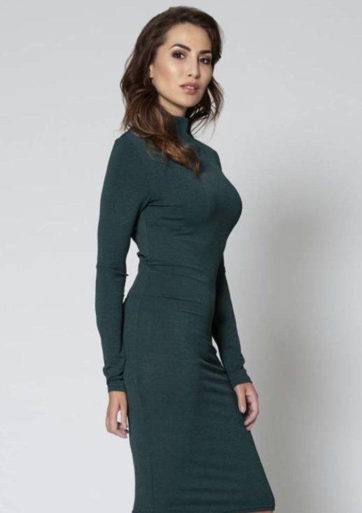 Oktober - jurk spencer groen