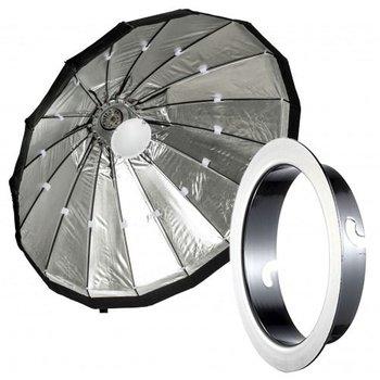 Lencarta Beauty Dish 60cm Opvouwbaar Zilver   Diverse merken speedring