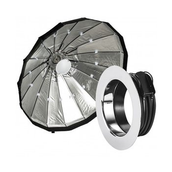Lencarta Beauty Dish 80cm Opvouwbaar Zilver   Diverse merken speedring