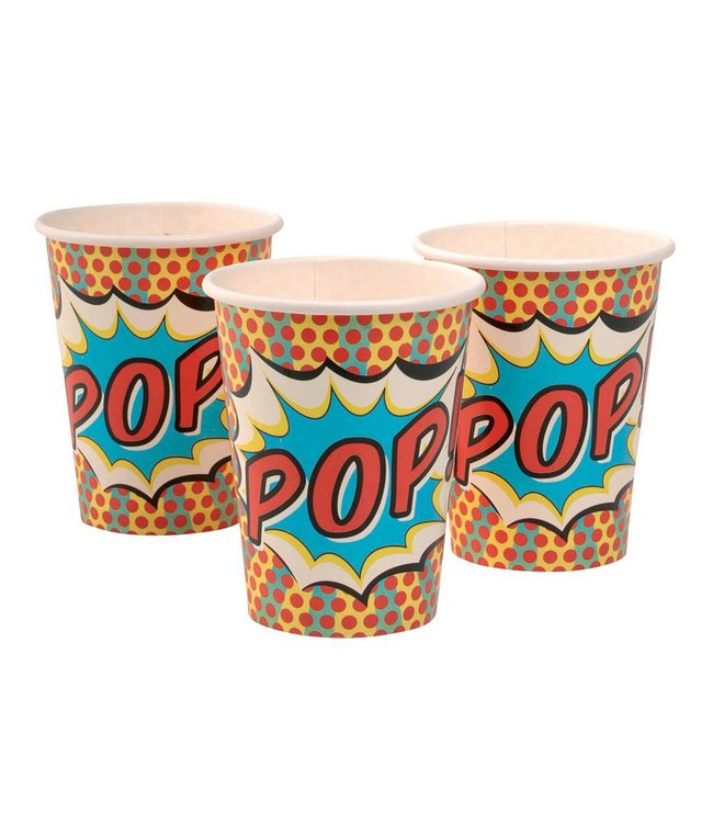 Ginger Ray Pop Art Superhelden Bekers - 8 stuks