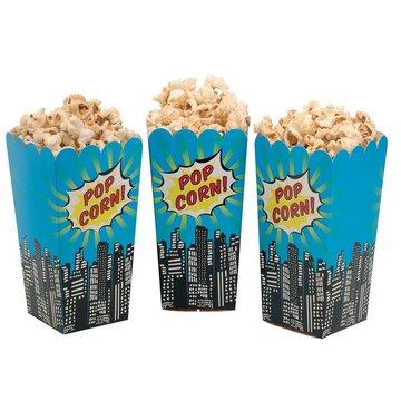 Ginger Ray Pop Art Superhelden Popcorn Bakjes - 8 stuks