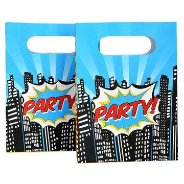 Ginger Ray Pop Art Superhelden Uitdeelzakjes - 8 stuks - papier