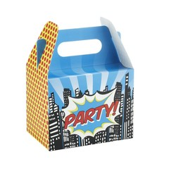 Ginger Ray Pop Art Superhelden Uitdeeldoosjes - 5 stuks - karton