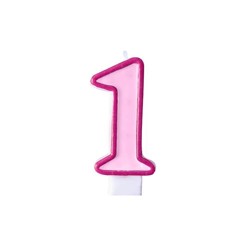 1 jaar taartkaarsje roze hieppp - Deco slaapkamer jongen jaar ...
