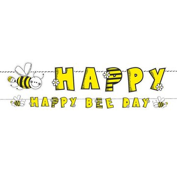 Partydeco Bijtjes Slinger 'Happy Bee Day' - 1,53 meter
