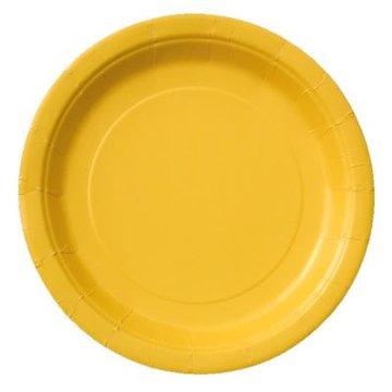 Unique Gele Borden - 16 stuks - 23 cm