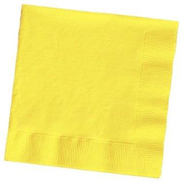 Unique Gele Servetten - 20 stuks