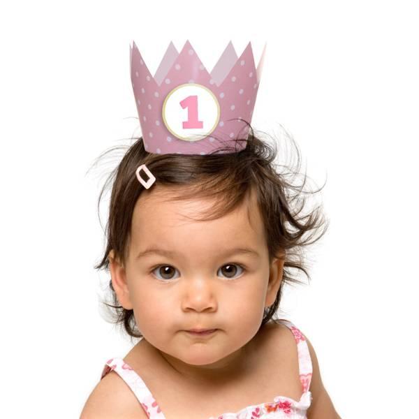 Kroontjes roze hieppp - Deco slaapkamer meisje jaar ...